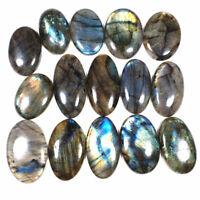 1050 Cts/15 Pcs Natural Labradorite 36mm-47mm Loose Cabochon Gemstones Wholesale
