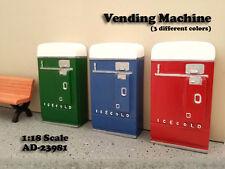 1 VENDING MACHINE DIORAMA GREEN FOR 1:18 SCALE MODELS BY AMERICAN DIORAMA 23981G