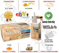 Rizla Ultra Slim Filtre 5.7mm Natura Biodegradabili 10 Confezioni 120 FILTRI