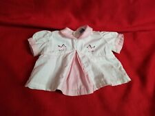 Vintage 1950s Baby Girl Pony Horse Embroidery Cute Top 0-3 M