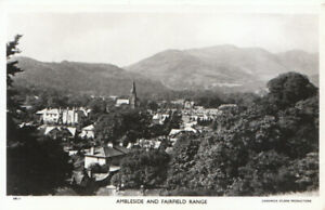 Cumbria Postcard - Ambleside and Fairfield Range - Real Photograph - Ref TZ6140