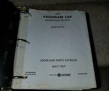 1968 Chrysler MOPAR Factory Parts Catalog ORIGINAL Charger Barracuda Dart DODGE