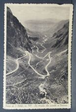 Cartolina - PASSO SAN BOLDO La strada che scende verso Tovena - VG 1936 Treviso