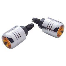Chrome Amber Diamond License Plate Fasteners, Set of 2, Hot Rod, Rat Rod, Gasser