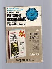bertrand russel - storia della filosofia occidentale-filosofia greca I° volume