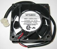 "Mitsubishi 60 mm Quiet Fan - 12 V - 2500 RPM - Made in Japan - 8"" Long Leads"