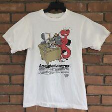 Vintage Accountantasaurus Cliff Galbraith Shirt Saurus Gang 1990 90s Medium USA