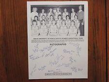 1982 North Dakota Women's Basketball Roster(14 Signed/DONA CORCORAN/TARA KREKLAU