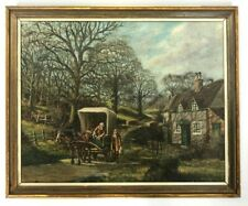 Brian Chandler Original Oil Painting Horse And Cart 1969