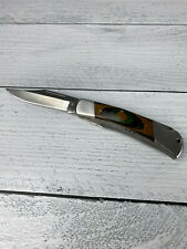 Flying Falcon Folding Knife - 2 Blades - Great Condition - Wood