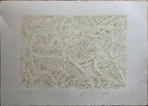 Pericle Fazzini serigrafia carta Arches Rami 76x56 firmata numerata 45/99