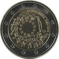 *** 2 Euro Gedenkmünze ZYPERN 2015 30 Jahre Europaflagge Cyprus Münze Coin ***
