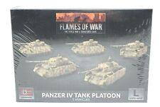 Flames Of War German Panzer IV Tank Platoon New