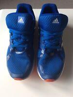 ADIDAS Blue White Stripe Trainers Sneakers Duramo8 Cloudfoam Size 10 Shoes