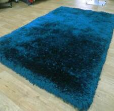 Mega Thick Shaggy Rugs In Peacock / Dark Teal - 7cm Deep Plush Pile 120x180cm