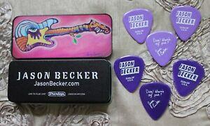 Jason Becker Soul of The Soul LOGO Tin With 6 Jason Becker DANG! Guitar Picks