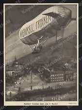 Or. la pubblicità HENKELL SPUMANTE Zeppelin AVIAZIONE aria immagine stadtschloß Dom Berlin 1911