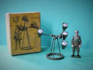 BRITAINS LEAD VINTAGE 1938 BOXED 1638 AA UNITS OF THE BRITISH ARMY SOUND LOCATOR