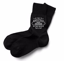 Great Grandad Socks Birthday Gift Greatest Present Idea Dad Him Men Black Socks