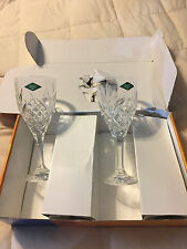 4 VINTAGE GODINGER SHANNON 24% LEAD CRYSTAL 9 OZ WINE GOBLETS GLASSES LOT SET