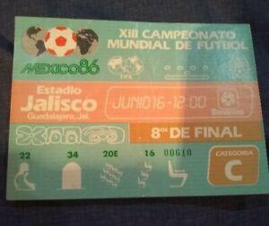 1986 FIFA World Cup Mexico 1986 Brasil Poland June 16 Ticket Estadio Jalisco