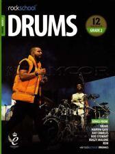 Rockschool Drums Grade 2 2018-2024 Sheet Music Book/Audio Exercises Tests Songs