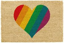 Large Rainbow Indoor Mat Non Slip Coir Doormat Gay Pride LGBT Door Matt Rug UK