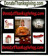 Donate Thanksgiving .com Domain Name For Sale Charity Donations Holiday   URL