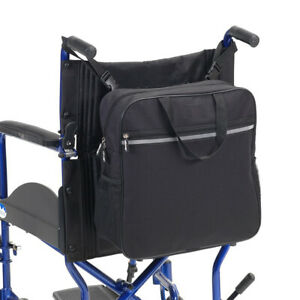 Waterproof Wheelchair Back Pack Shopping Bag with Carry Handle Black H