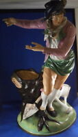 Giant 18thC Royal Vienna Porcelain Gardener Figurine Figure Porzellan Figur Wien