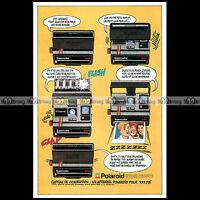 POLAROID SUPERCOLOR 600 APPAREIL PHOTO INSTANTANE 1987 Pub Publicité / Ad #A1508