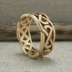 14K CELTIC KNOT WEDDING RING IRISH Size 7 Made in Ireland by FADO