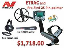 MINELAB ETRAC METAL DETECTOR w/ HEADPHONES & PRO-FIND 25 PIN-POINTER SHIPS FREE