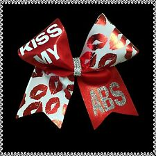 Kiss My Abs Cheer Bow