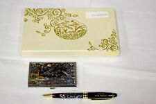 Mother of Pearl - Business Card Holder and Pen Set - Military Diplomatic Gift