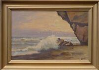 Impressionist - Surf - Waves - Sea - Baltic - Rocks - Seagulls - Oil Painting