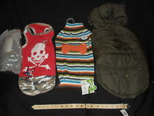 3 EXCELLENT QUALITY MALE DOG COLTHES &  DOG COLLAR BNWT Large & Medium