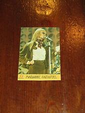 FIGURINA PANINI CANTANTI 1968 RECUPERATA N°77 MARIANNE FAITHFULL