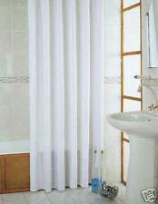 Rideau de douche en textile blanc 230 cm x 200 extra longueur salle Bain