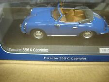 1963 Porsche 356C 1:43 Model Enamel Blue W/ Brown Interior Wap0205500H *Limited*