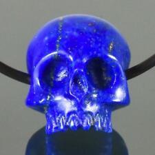 Lapis Lazuli Human Skull Bead Afghanistan 11.76 mm Carving Horizontal-drill 2.24