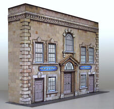 7mm Scale Georgian Theatre Card Model Construction Kit.  1:43 Cars or O Gauge