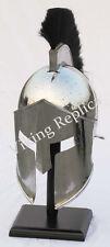 Medieval KING LEONIDAS SPARTAN 300 HELMET With Black Plum - FREE INNER