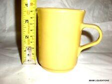 Lot 5 Coffee mugs 8oz yellow Continental Plastics Carlisle 8006 Valiant Vintage