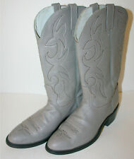 ACME Gray Leather Western Cowboy Work Tall Rider Boots Men's 10 D Excellent