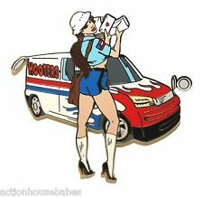 HOOTERS USPS UNITED STATES POSTAL POST OFFICE MAIL GIRL LOVE LETTERS LAPEL PIN