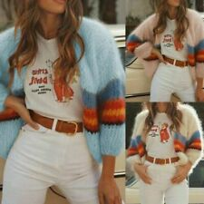 Orange Long Sleeve Chunky-Knit Jumpers & Cardigans for Women