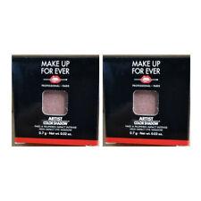 x2 MAKE UP FOR EVER Artist Color Eyeshadow I-544 Pink Granite Shimmer .02 oz Lot