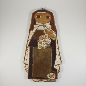 SAINT ANDREW'S ABBEY Ceramic Nun Wall Hanging - St. Therese of Lisieux Handmade