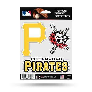 Pittsburgh Pirates Triple Sticker Multi Decal Spirit Sheet Auto Home Baseball